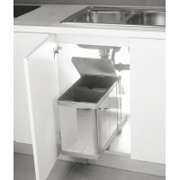 INOX Pull Out Waste Bin Stainless G2.01.101